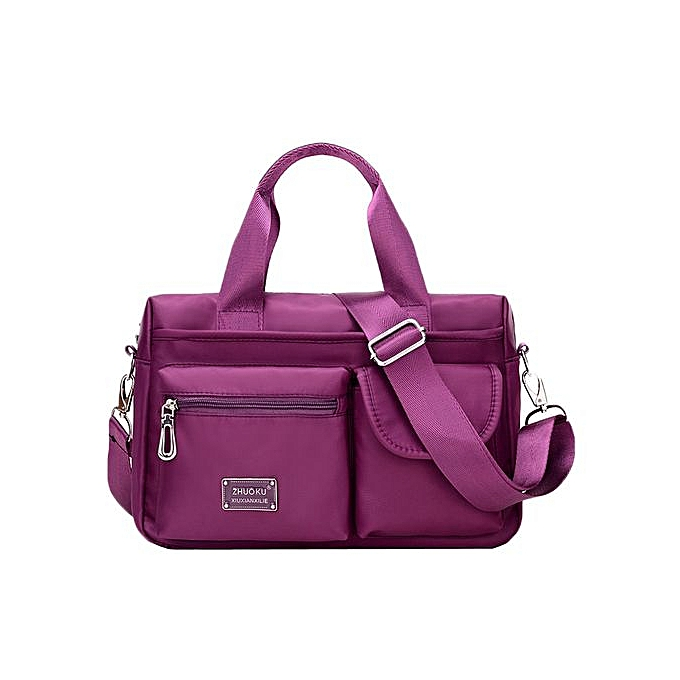 Xingbiaocao Fashion Women Multi Purpose Handbag Inclined Shoulder Bag  Messenger Bag -Purple ... bace4133e3c33