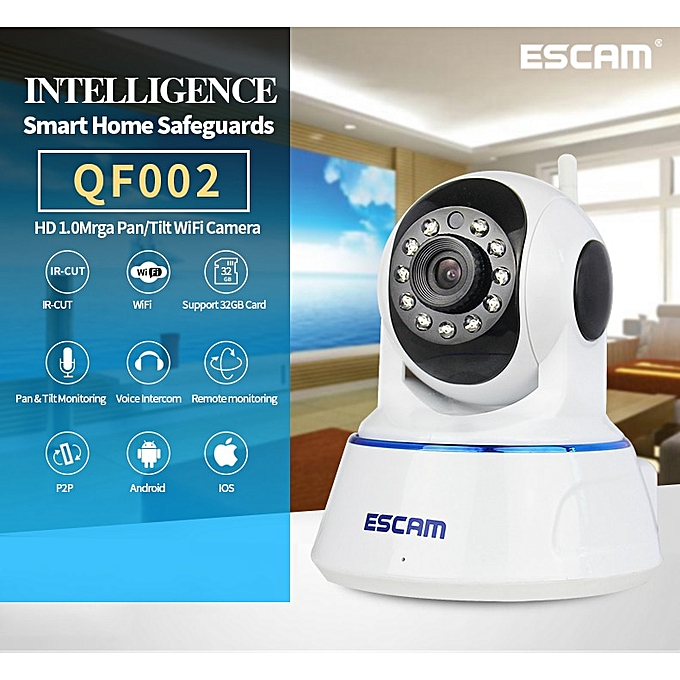 ESCAM QF002 1MP 720P Motion Detection PTZ IP Camera JAWAD