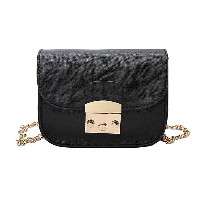 Women Removable Golden Chain Strap Handbag Flap Closure Shoulder Bag Array