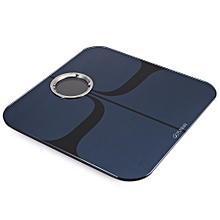 M1301 App Control Bluetooth Smart Body Fat Electronic Scale ITO Tempered Glass Surface - Black