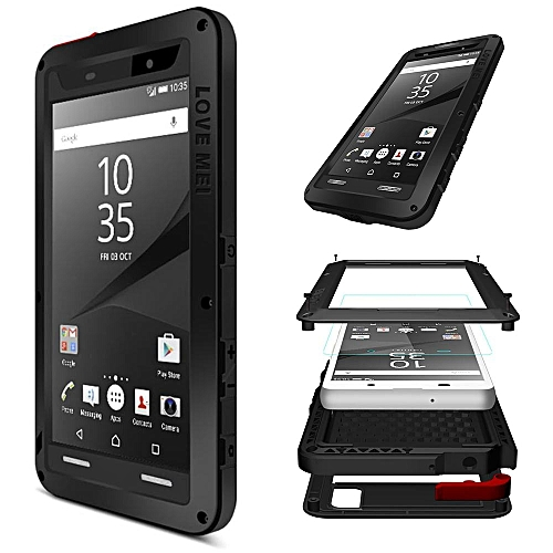 online retailer b6a53 749f3 Xperia Z5 Waterproof Case, Shockproof Snowproof Dustproof Durable Aluminum  Metal Heavy Duty Full-body Protection Case Cover for Sony Xperia Z5