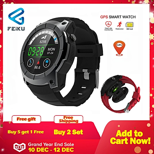 f020d11b0 Generic S958 watch men Smart Watch Heart rate monitoring Support SIM card  GPS WiFi Smartwatch For Android IOS (Black) WANKAI