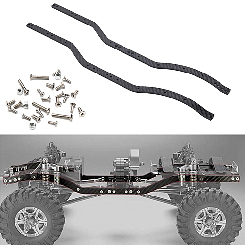 Buy Generic 2pcs Carbon Fiber Chassis Frame Rails set for Axial ...