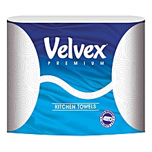 Kitchen Towels Premium White (Pack of 2)
