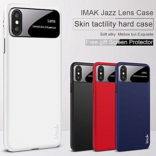 the best attitude a9cfb c190c Ultra Thin Jazz Lens Case For IPhone X Skin PC Frosted Shield For IPhone X  Case With Acrylic Board Camera Protection+film