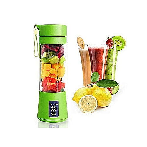 Portable Blender Juicer Cup / Electric Fruit Mixer-Green