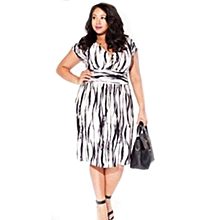 Plus Size Dress For Women Office Midi Dress Avery-Multi