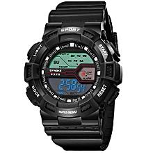 Children Boys Student Waterproof Sports Watch LED Digital Date Wristwatch -black