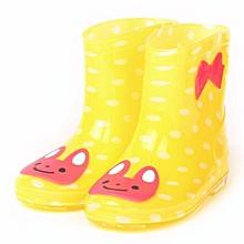 Waterproof Child Animal Rubber Infant Baby Rain Boots Kids Children Rain Shoes- Yellow