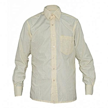 Yellow Stripped Mens  Long Sleeved Shirts