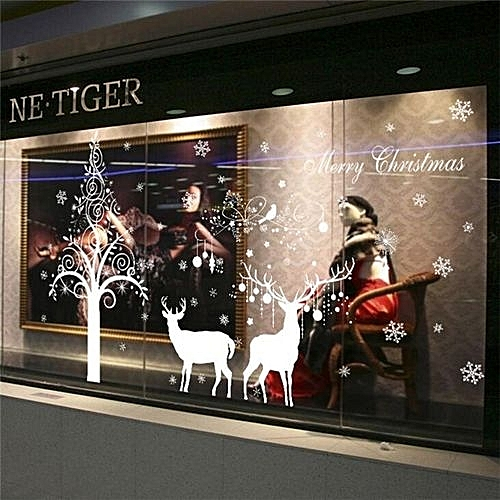 Magnificent Christmas Deer Wall Sticker Vinyl Wall Stickers For Kids Rooms Living Room Windows Background Decorations Bedroom Stickers Download Free Architecture Designs Scobabritishbridgeorg