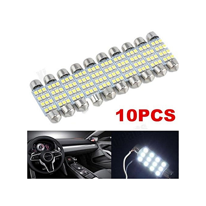 Automobiles & Motorcycles 10 X 41mm 12 Smd Led Car Interior Festoon Dome Bulb Lamp Light 12v 2.5*1*4.1cm