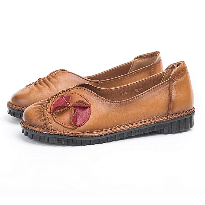 8e36e514e9161 Women's Casual Leather Loafers Flats Slip On Shoes