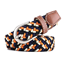 New stretch woven belt youth student belt Korean version of the women's belt pin buckle wild-100CM-multi1