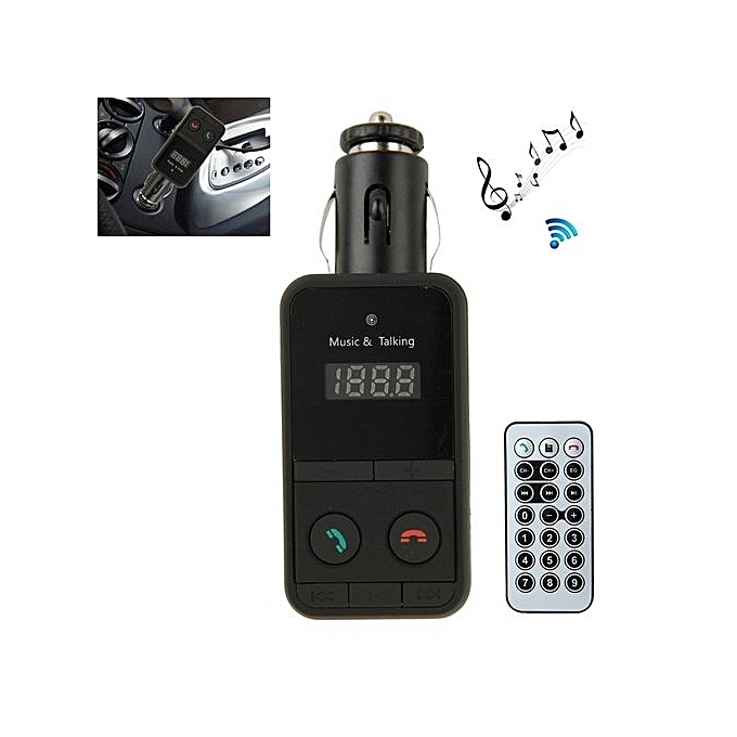Car Bluetooth FM Transmitter With Remote Control For IPhone 6 & 6 Plus,  IPhone 5 & 5C & 5S, Galaxy S6 / S5 / S IV, HTC, Support TF Card Music Play  /