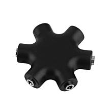 6 Way 3.5mm Audio Earphone Headphone Headset Splitter & Auxiliary Cable MP3