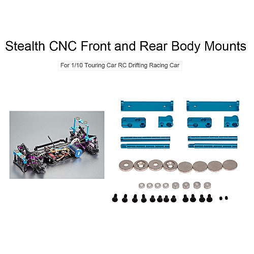 Killerbody Front and Rear Body Mounts Stealth CNC for 1/10 Traxxas Axial  HSP HPI RC Touring Drifting Car