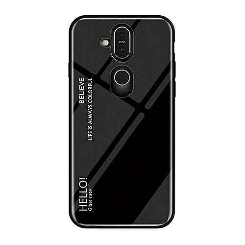size 40 05944 b7bd6 Gradient Color Glass Case for Nokia 7.1 Plus / X7(Black)