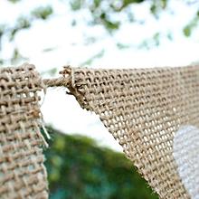 Jute Rope Flax Triangular Flag Linen Heart Pennant Flag Wedding Decor Supplies