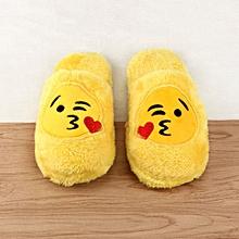 Unisex Emoji Cute Cartoon Slippers Warm Cozy Soft Stuffed Household Indoor Shoes