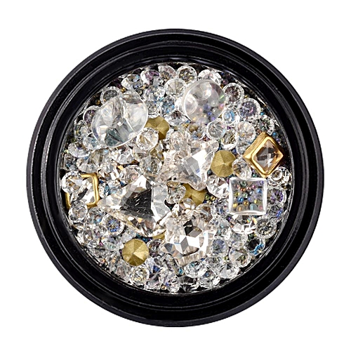 Generic 5 Types Glass Glitter Ab Drill Culet Nail Art Decoration