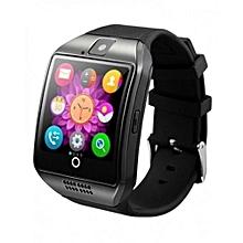 Q18 Smart Watch Phone - 0.8MP Camera – Single SIM - Silver/Black