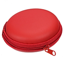 Pocket Hard Case Storage Bag For Earphone Headphone Earbuds SD TF MP3 MP4 (Red)
