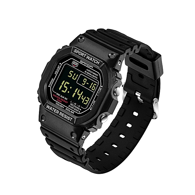 d410434fda SANDA Men's LED digital watch: Buy sell online Casual with cheap price  (Black small) MQSHOP