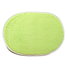 1Pcs 40*60CM Bathroom Carpets Absorbent Soft Memory Foam Doormat Floor Rugs Oval Non-slip Bath Mats Green