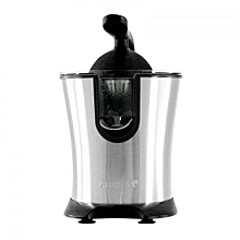 Citrus Juicer With Hand Press - Silver & Black