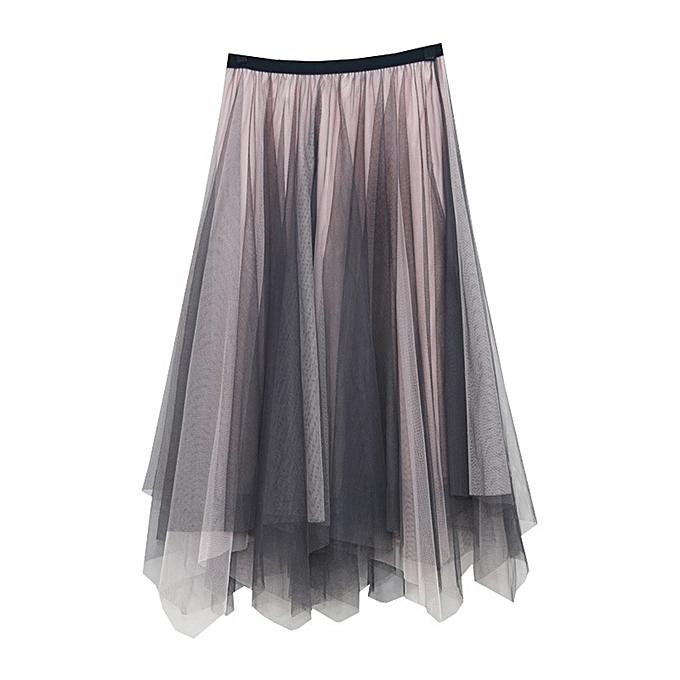 edbc17dbaa jiahsyc store Women Girls Big Swing Tulle Pleated Long Maxi Tutu Dress High  Waist Net Skirt