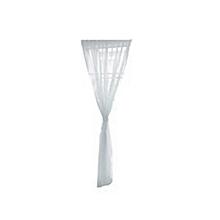 Solid Color Glass Yarn Sheer Window Valance Curtain Home Wedding Decor white