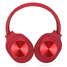 Bluetooth Foldable Headphone 40mm Heavy Bass FM Mode Excellent Apperence- Red