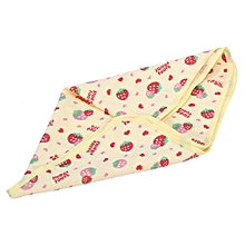 Newborn Infant Changing Urinal Pad Waterproof Cotton Diaper Inserts Changing Mat (Strawberry S)