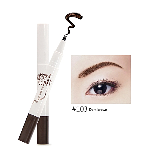 Generic 2in1 Rotating Eyebrow Pencil Unique Tips Novel Eye Brow Comb Waterproof Long Lasting 24 Hours Natural Pigment Eyebrows Makeup Kit
