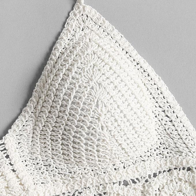 600b466336b Fashion Crochet Padded Bralette Crop Top - WHITE @ Best Price ...