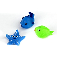 13pcs Different Squeaky Floating Animals Ocean Rubber Baby Bath Bathing Toys Multi-color