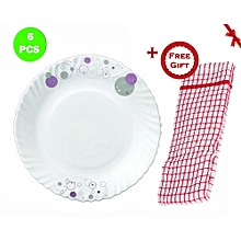 Trendy Haze 6pc Dinner Plate Set (+ Free Gift Hand Towel).
