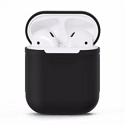 sneakers for cheap 9e2fe b6183 Besegad Silicone Carrying Case Cover Skin Sleeve Pouch Box for Apple  Airpods Air Ear Pods Buds Wireless Earphone Headpho - Black