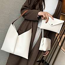 3Pcs Women's Fashion Leather Shoulder Bags with Corssbody Bag&Handbag WH