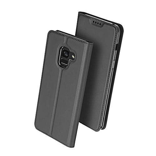 in stock a7e74 6672f Samsung Galaxy A7(2018) Leather Case, Pu Leather Flip Wallet Case Cover For  Samsung Galaxy A7(2018) With Stand Function And Card Slot - Black.
