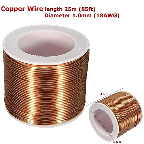 Wondrous Universal Spool Copper Wire 1 0Mm 18Ga 25M 85Ft Enameled Copper Coil Wiring Database Pengheclesi4X4Andersnl