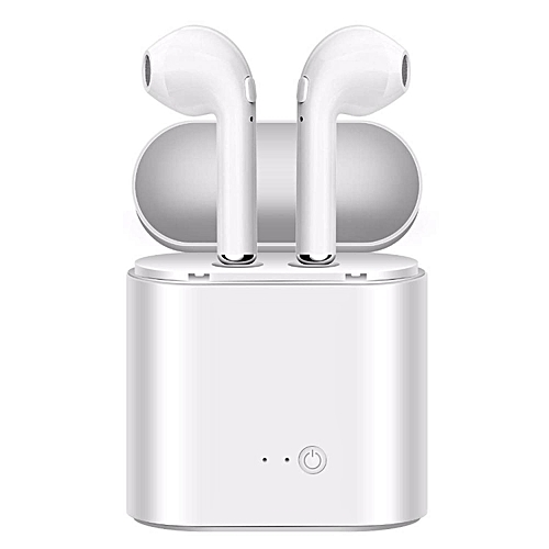 I7S TWS Mini Bluetooth Wireless Earbuds Earphone Headsets Double Earpiece Air Pods with Microphone for Earpods All Mobile for IPhone 6 Samsung Android Xiaomi Huawei