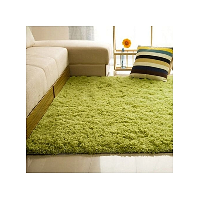 Shaggy Anti-skid Carpets Rugs Floor Mat/Cover 80x120cm Grass Green