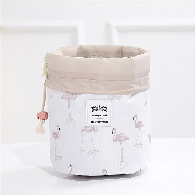 5d3d396d3d39 Multifunction travel Cosmetic Bag Neceser Women Makeup Bags Toiletries  Organizer Waterproof Storage Make up Cases(White flamingo)