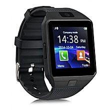 DZ09 - 1.56 Smart Watch - 128MB ROM - 64MB RAM - 0.3MP Camera - Black