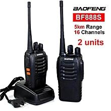 1 Pair (2 Units) BaoFeng BF-888S 16 Channel Walkie Talkie Set UHF 5W