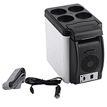 OR 12V Portable Car Small Refrigerator Fridge Cooler & Warmer Enough Capacity Black & White