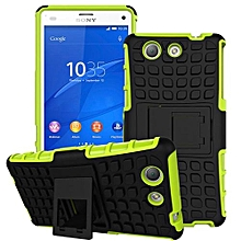 Mooncase Case For Sony Xperia Z4 Compact Detachable 2 In 1 Shockproof Tough Rugged Prevent Slipping Dual-Layer Case Cover With Built-in Kickstand Green