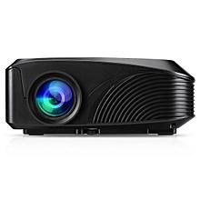 LED-4018 Portable 1200 Lumens 800*480 Support 720P 1080P Max 130 Inch Red-blue 3D EK Plug - Black